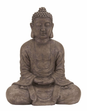 Polystone Buddha Decorative Statue To Impress The Visitors Brand Woodland