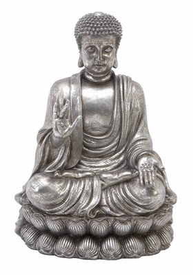 POLYSTONE BUDDHA 16 INCHES WIDE - 75542 by Benzara