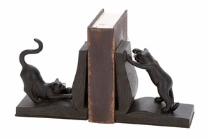 Polystone Cat Bookend Pair, 7 Inch Height, 6 Inch Width Brand Woodland