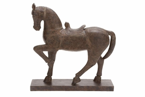Polystone Horse D�cor, 20 Inch Height, 20 Inch Width Brand Woodland
