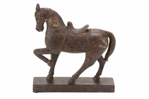 Polystone Horse D�cor, 9 Inch Height, 9 Inch Width Brand Woodland