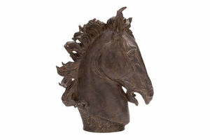Polystone Horse Head D�cor, 25 Inch Height, 22 Inch Width Brand Woodland