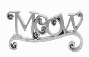 Polystone Meow Elegant Finish with Silver Color & Easily Movable Brand Woodland