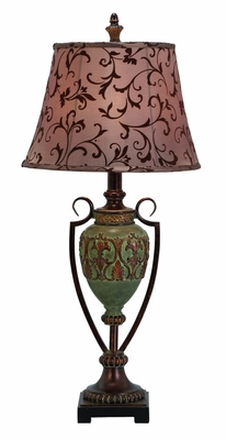 Polystone Metal Table Lamp Designed with Delicate Detailing Brand Woodland