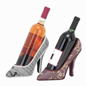 Polystone Shoe Wine Holder 2Assorted with Fine Detailing Work Brand Woodland