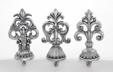 """Polystone Stocking Hanger Set of 3 in Antique Design Assorted 4""""W, 10""""H by Woodland Import"""
