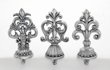 "Polystone Stocking Hanger Set of 3 in Antique Design Assorted 4""W, 10""H by Woodland Import"