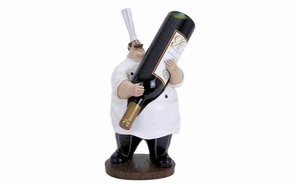 Polystone Wine Holder - Fat Chef Polystone Figure Brand Woodland