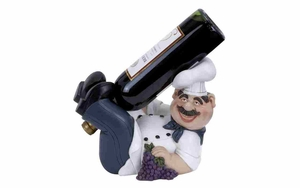 Polystone Wine Holder - Italian Chef Polystone Figure Brand Woodland
