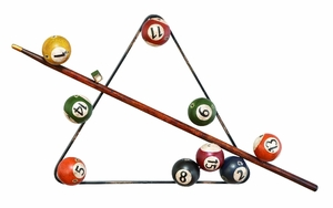 Pool Table Game Metal Wall Decor Sculpture Crafted with Iron Brand Woodland