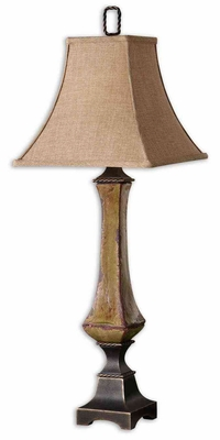 Porano Buffet Lamp with Dark Bronze Detail Brand Uttermost