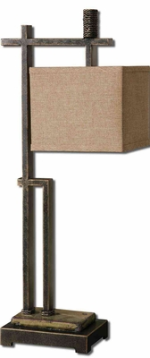 Porano Metal Buffet Lamp in Dark Bronze Finish Brand Uttermost