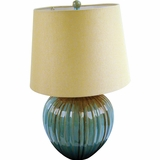 Portable Lamp Series Enthralling 1 Light in Reactive Green by Yosemite Home Decor