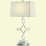 Portable Lamp Series Pretty 1 Light in Polished Nickel by Yosemite Home Decor