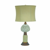 Portable Lamps Collection Alexandria Fascinating Resin Table Lamp with Beige Fabric Shade by Yosemite Home Decor