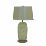 Portable Lamps Collection Attractive Styled Resin Table Lamp with Fabric Shade by Yosemite Home Decor