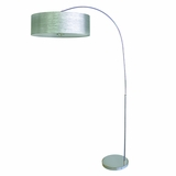 Portable Lamps Collection Captivating Arc Floor Lamp in Chrome Finish with Starlight Weave Shade by Yosemite Home Decor