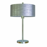 Portable Lamps Collection Classy Portable Table lamp in Chrome Finish with Starlight Weave Shade by Yosemite Home Decor
