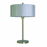 Portable Lamps Collection Eye catching Portable Table Lamp in Satin steel Finish by Yosemite Home Decor