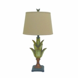 Portable Lamps Collection Fascinating Contemporary Styled Resin Table Lamp with Fabric Shade by Yosemite Home Decor