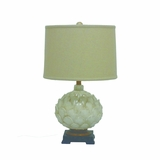Portable Lamps Collection Mesmerizing Styled Resin Table Lamp with Beige Fabric Shade by Yosemite Home Decor