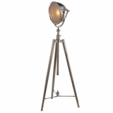 Portable Lamps Collection Smart Looking 1 Light Portable Floor Lamp with Nickel Plated Finish by Yosemite Home Decor