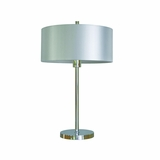 Portable Lamps Collection Styled Portable Table Lamp in Chrome Finish with Pristine White shade by Yosemite Home Decor