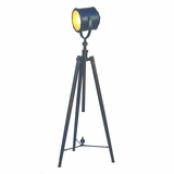 Portable Lamps Collection Trendy 1 Light Portable Floor Lamp with Black Painted Finish by Yosemite Home Decor