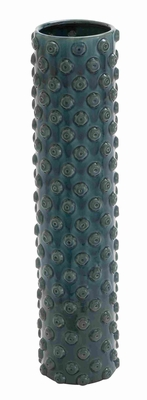 Portable & Weather Resistant Crackled Vase with Washed Fabric Brand Woodland