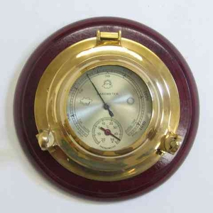 Porthole Barometer Thermometer To Know About Weather Conditions Brand IOTC