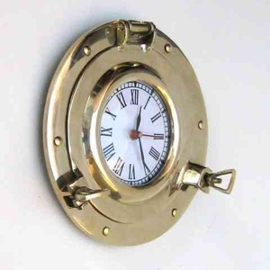 Porthole Clock - Seaside Low Profile Port Hole Clock Brand IOTC
