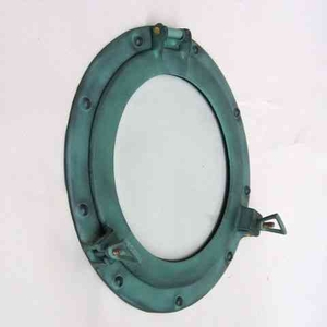 Porthole Glass Green With Protective Polish A Perfect Beach Home Decor Brand IOTC