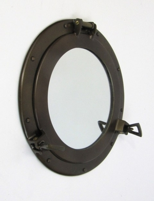 Porthole Mirror Antique Nice Budgetary Option For Festive Decor Brand IOTC