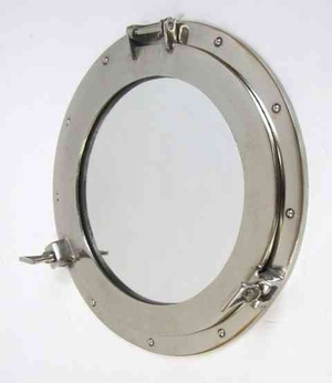 Porthole Mirror Chrome Plated Long Lasting Purposeful Wall Decor Brand IOTC