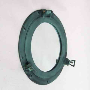 Porthole Mirror Green A Useful Ship Decor Asset For Any Place Brand IOTC