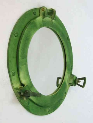Porthole Mirror Green An Excellent Room Decor Upgrade Brand IOTC