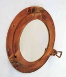 Porthole Mirror With Protective Polish Makes The Spaces Nautical Brand IOTC