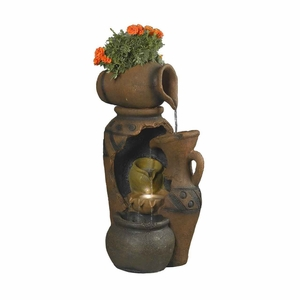Pot Outdoor/Indoor Weather Proof Water Fountain with Finger Light Brand Zest