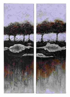 Powerful Two Piece Painting Mural With For a Vivid Decor Brand Woodland