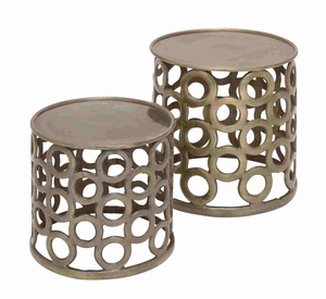 Prague Fashionable Designer Smart Stool Pair Brand Benzara