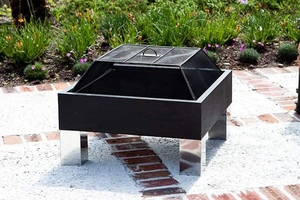Prato Fire Pit, Compact And Contemporary Heating Utility by Well Travel Living