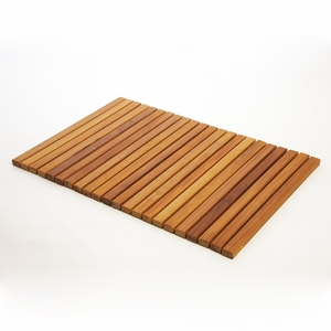 Premium Plantation Teak String Bath & Showermat Rectangle by Infinita