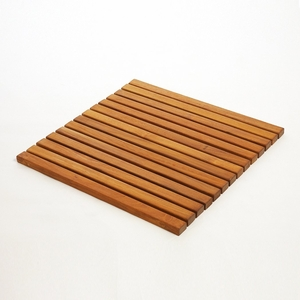 Premium Plantation Teak String Bath & Showermat Square by Infinita