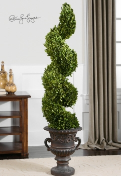 Preserved Boxwood Spiral Topiary Natural Decor That Is Felt By All Brand Uttermost