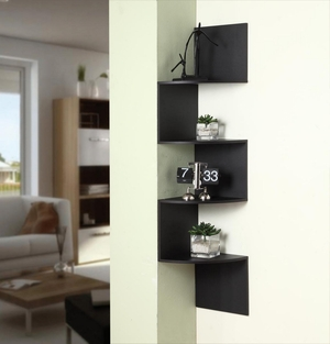 Prestigious Unique Styled Hanging Corner Storage by 4D Concepts