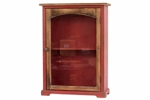 Pretty and Glowing Red Wooden Smart Looking Cabinet