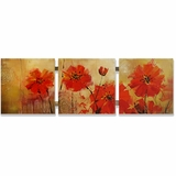 Pretty Painted Blooming Red Artwork by Yosemite Home Decor