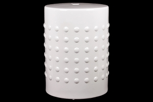 Pristine White Attractive Ceramic Stool