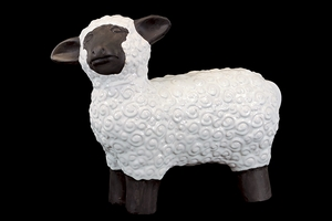 Pristine White Ceramic Pretty Sheep