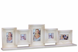 Pristine White Decorative Wooden Multi Photo Frame by Urban Trends Collection